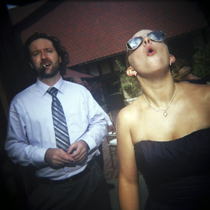 Love this.  Bridesmaid and boyfriend...and cigars.