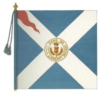 Colour of the Royal Regiment of Foot circa. 1680. For the Lieutenant-Colonel. For more information on Scottish Uniforms click on the link below:-