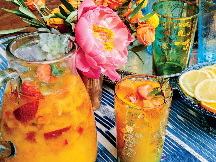 Papaya-Strawberry Cocktail Recipe | Instead of the usual margaritas, mix up a pitcher of these fresh, fruity cocktails. Use a light tequila, such as Herradura Silver. San Antonio chef Johnny Hernandez concocted this party in a pitcher for a Cinco de Mayo menu in our May 2017 issue, but we think it would be a refreshing way to kick off any gathering, especially in warmer months. If you're a fan of margaritas, Palomas, or other tequila-based cocktails, you'll love this bright and fruity drink.