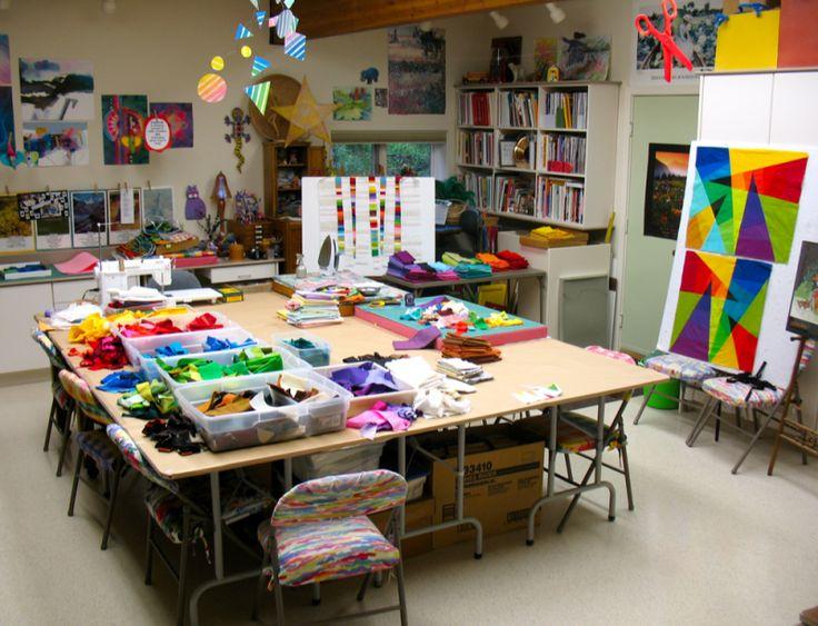 20 best Quilt studio ideas images on Pinterest | Sewing rooms ... : studio quilt - Adamdwight.com