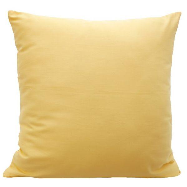 Bavlnené obliečky na vankúšiky zlatej farby