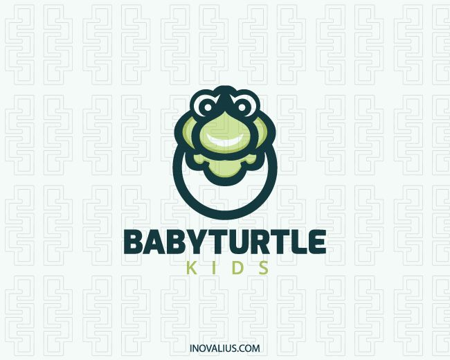 Animal logo in the shape of a stylized turtle head together with an egg with green colors.( kids, turtle, egg, game, mascot, animal, ecology, green, entertainment, production, tortoise, sea tortoise, turtle care, turtle reptile,  logo for sale, logo design, logo, lototipo, logotype).