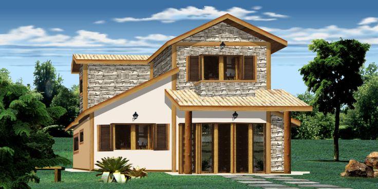 Casas pequenas e simples rusticas pesquisa google - Fachadas de casas rusticas ...