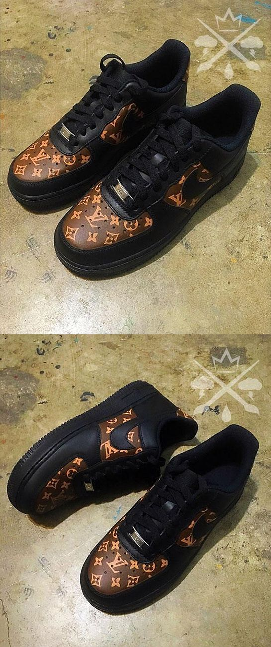 Nike Louis Vuitton LV Black Air Force 1 One Low Luxury