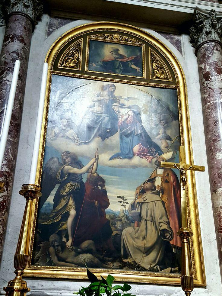 Chiesa di San Nazaro e Celso  Incoronazione della Vergine con i santi Michele Arcangelo, Giuseppe, Francesco e Nicola di Bari Moretto