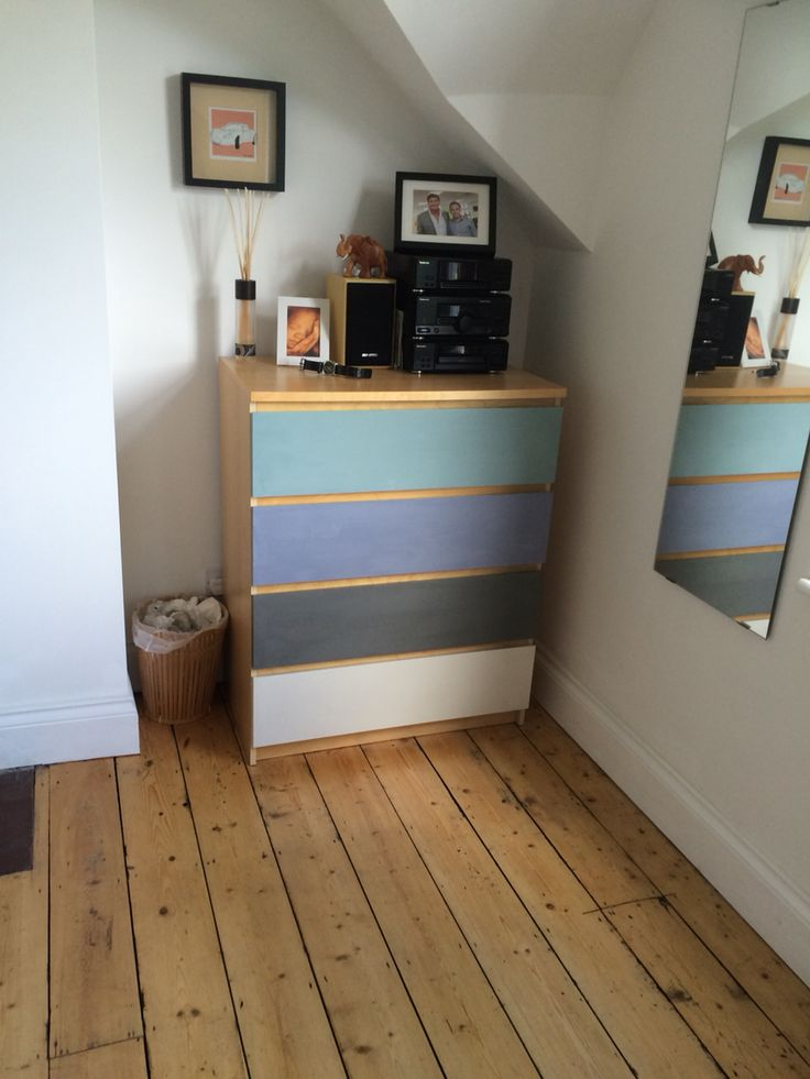 Ikea Malm Drawers painted with Frenchic Chalk Paint