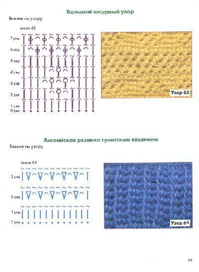 Схемы тунисского вязания крючком, вязание - уроки, фото, описание