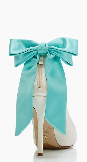 TIffany blue bow heels by @kate spade new york