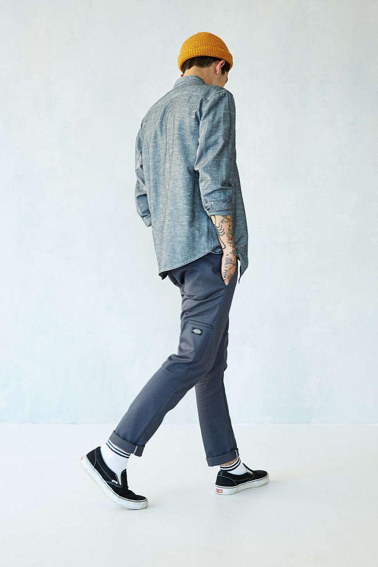 Dickies skinny straight work trousers. #menswear #style #asos_kieron