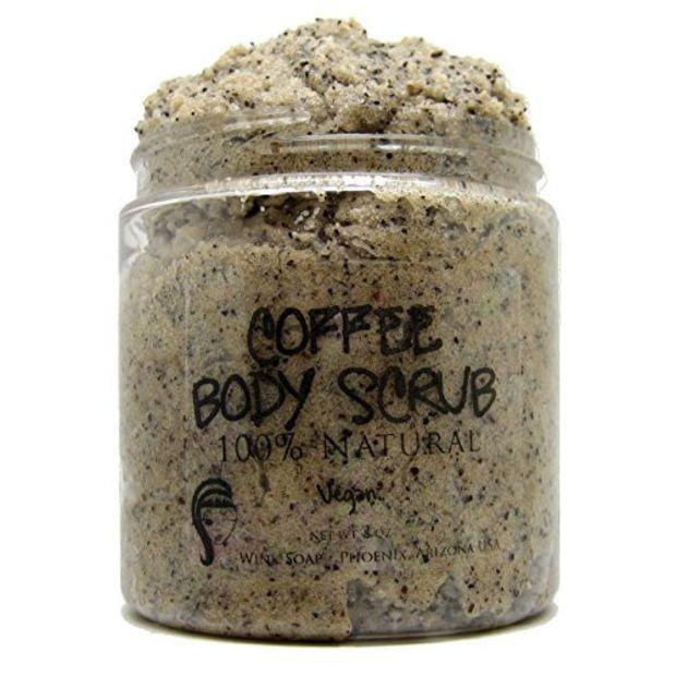 Wink Soap Coffee Body Scrub Vegan, 100% Natural, Essential Oils, Best Coffee Scrub with Arabica Coffee to Help Reduce Cellulite & Exfoliate the Skin, 8 oz