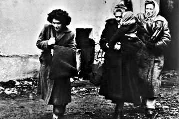 Some of the first arrivals at Traiskirchen Camp, near Vienna. Within three months, 200,000 Hungarians had escaped to Austria and Yugoslavia.