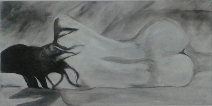 Horizon 18 x 20 #art #nude #blackandwhite #AnnieCharlot