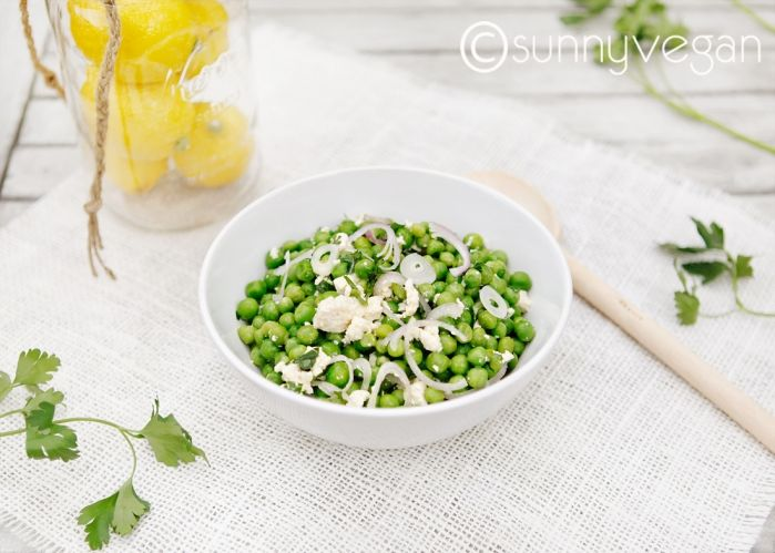 spring pea salad with lemon vinaigrette via  sunnyvegan.com