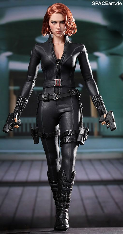 Marvel The Avengers Black Widow 1/6th Scale Collectible Figure Hot Toys Movie Masterpiece Series | Scarlett Johansson - Visit to grab an amazing super hero shirt now on sale!