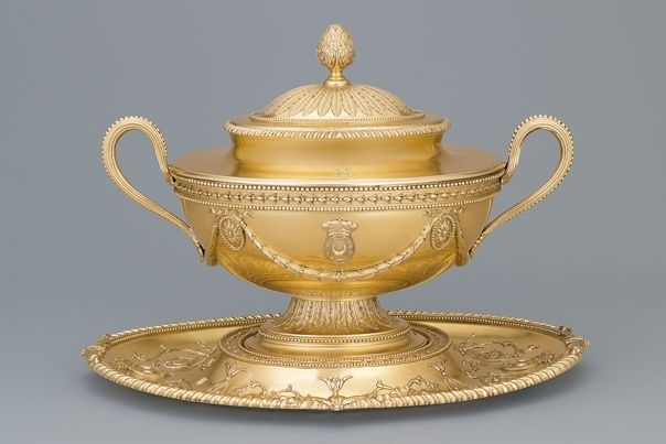 Tureen and Stand by James Young, 1779 The Vermeil Room 18th Century Culinary& Table