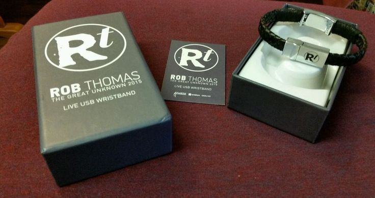 ROB THOMAS MB20 Live Concert USB Wristband Great Unknown Tour 2015 NEW in Box