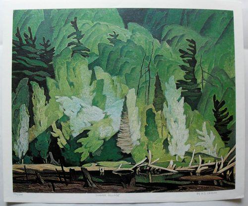 $45.99  Group OF Seven ART Print Summer Hillside BY A J Casson | eBay