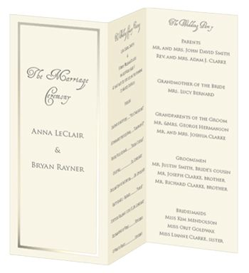 trifold wedding program examples koni polycode co