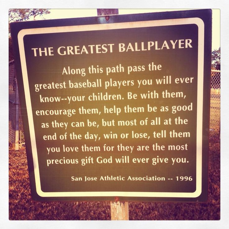 The Baseball parent Rules.  Too many take it too seriously.  It is a GAME.  Let them learn and have fun.