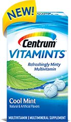 Centrum® VitaMints® | Centrum®. I received these free from Smiley360 to try. They taste great and don't leave a chalky residue in my mouth. These will now be my daily vitamin!