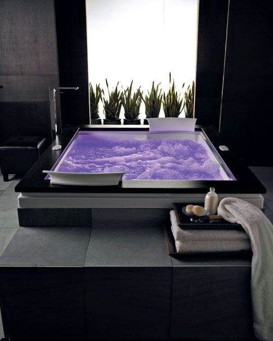 A classic whirlpool treatment goes high tech with a chromatherapy boost in 256 colors and 12 massage options in Jacuzzi's new Fuzion Salon Spa.