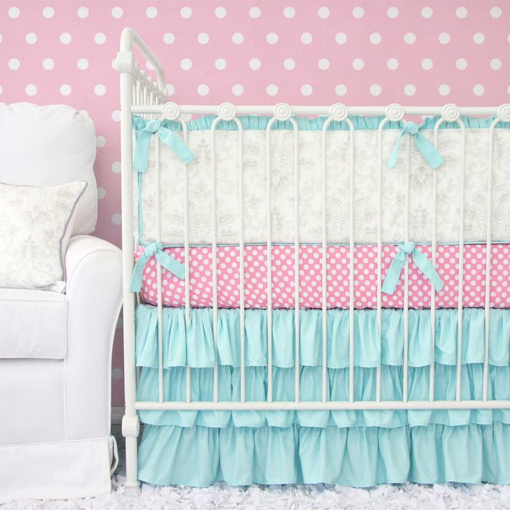 Soft And Elegant Gray And Pink Nursery: 75 Best Pink & Aqua Nursery Images On Pinterest