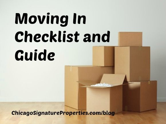 Move In Checklist--Timeline and Guide for Settling in to your new space!