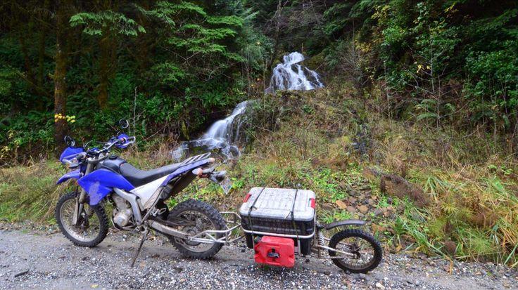 SherpaX by KIP Moto Lightweight pull behind motorcycle trailer.