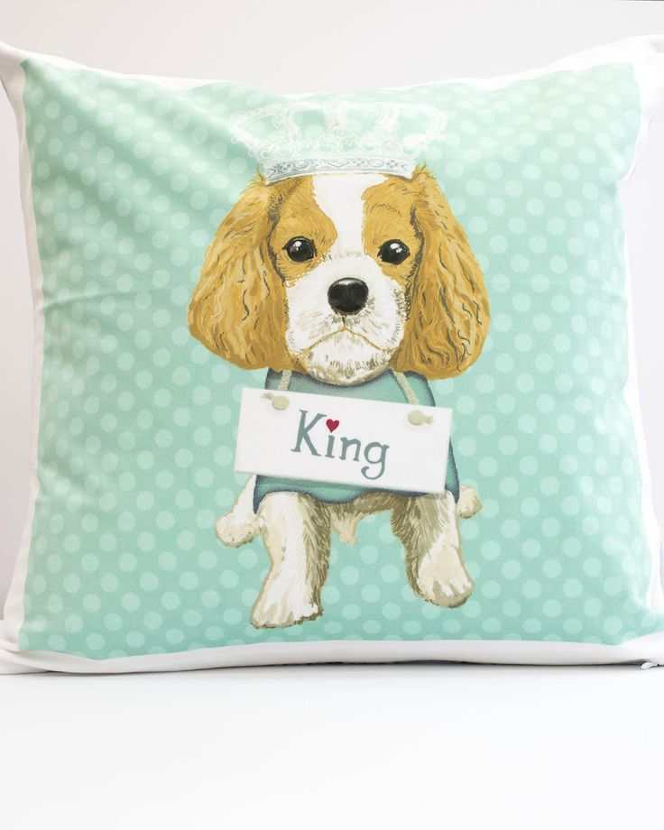 Excited to share the latest addition to my #etsy shop: Dog lover gift Cavalier cushion Cav decorative pillow Cav gifts Gift for Cav Mom Cavalier gift Cavalier King Charles Spaniel Blenheim http://etsy.me/2n8u5ij #housewares #pillow #rainbow #living #letterswords #white