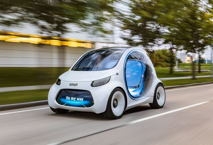 Smart has envisioned a different approach to car sharing with this autonomous, electric, two-seater concept vehicle.
