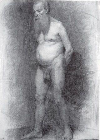 Francisco Antonio Cano Desnudo de anciano