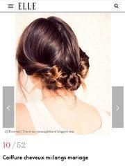 【ELLE】 Eine zufällige Kreation, die oben auf dem Kopf erstellt wurde    – Hair