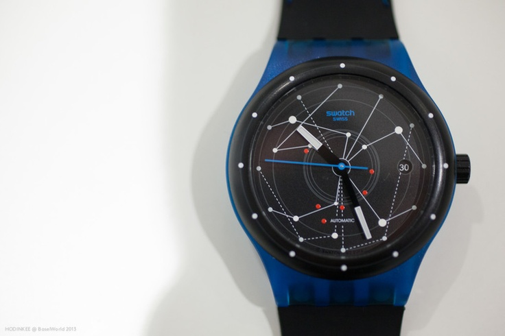 Swatch (yes, thought they made only quartz ones, ey!) Sistem51, the first ever mechanical watch made by Swatch and the first ever in the world to be assembled by machines. So, mechanical watches are now not exclusively made by hand anymore. A real game changer.