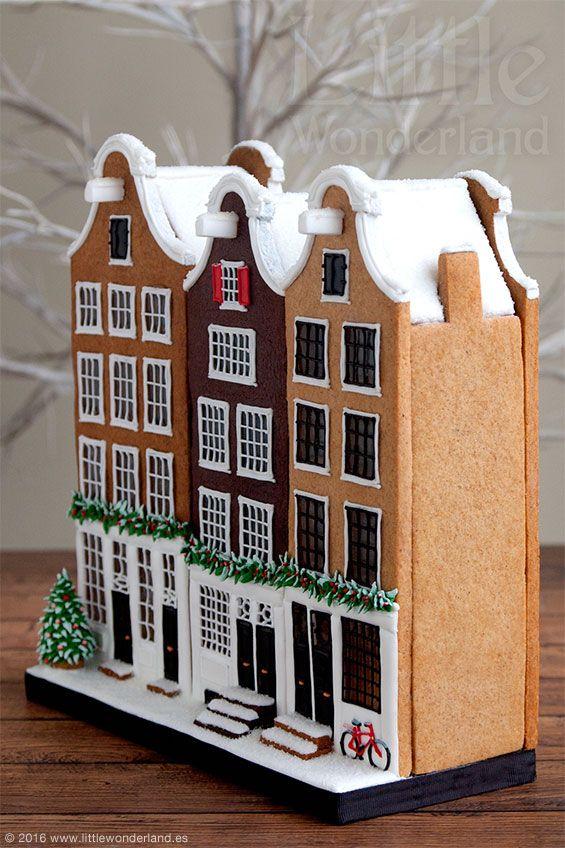Casitas holandesas de jengibre y chocolate | Dutch gingerbread houses