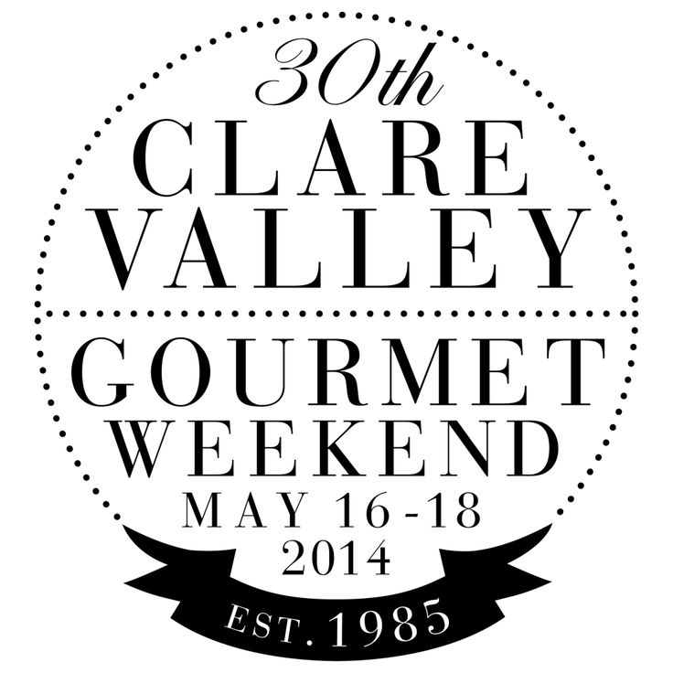 30th Anniversary Clare Valley Gourmet Weekend - we're joining the celebrations by teaming up with Greg Coolie Wines. 17 & 18 May 2014.
