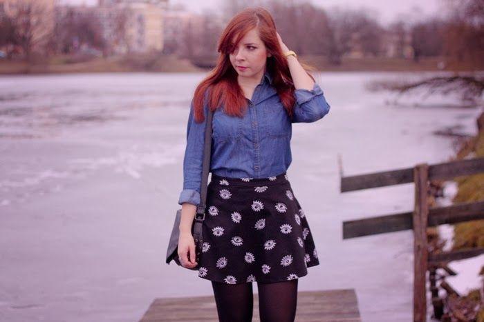 Stylebook: Jeans shirt& Skater skirt