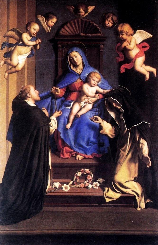 """""""Il Sassoferrato"""" (1609- 1685) - Madonna del Rosario - 1643 - Basilica di Santa Sabina all'Aventino, Roma"""