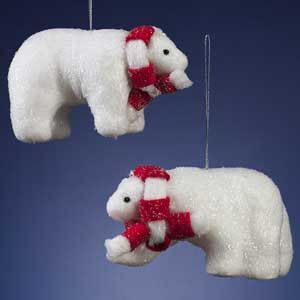 Blizzard Polarbear Ornament, Assorted (Case of 12)*