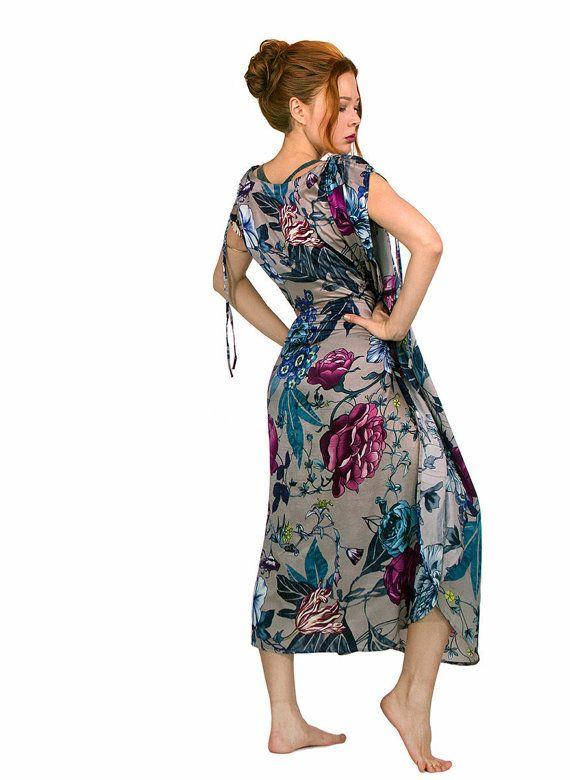 Bruidsmeisje gewaden Floral Kaftan jurk Kimono badjas door Shovava