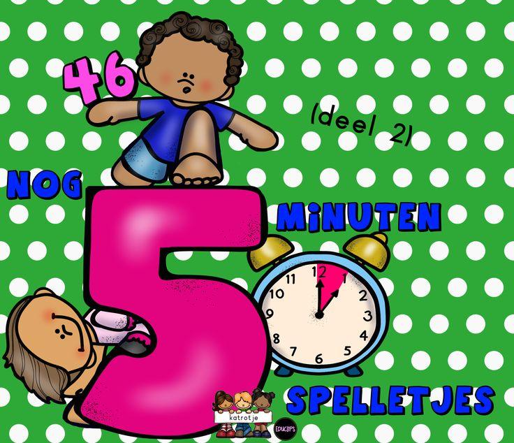 46 korte spelletjes waaronder, taal en wiskundige spelletjes, gekke spelletjes, kringspelletjes, liedjes en versjes, bewegingsspelletjes, rustige spelletjes,...