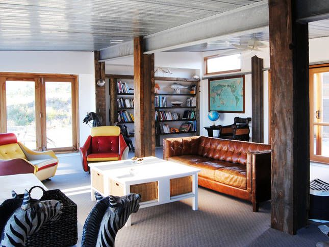 Reading Room - space to contemplate | Malibu on the Beach - oceanfront retreat in Four Mile Creek, Tasmania