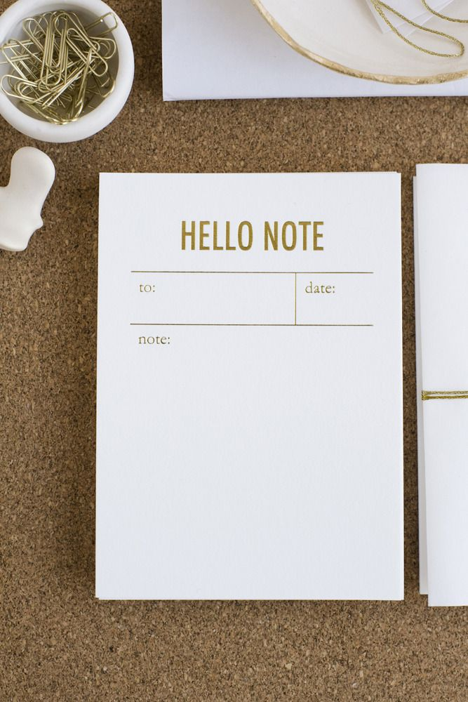 tokketok / hello note