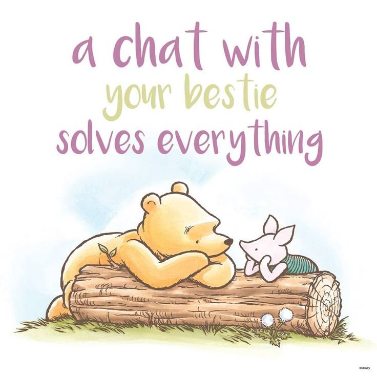 Winnie the Pooh - never far from his bestie.