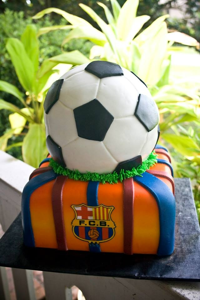 Soccer cake...he would love it!