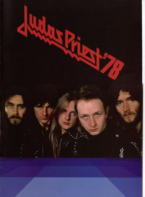 Judas Priest, frontpage of tour programme 1978 Ian Hill, Glenn Tipton, K. Downing, Robert Halford and Les Binks
