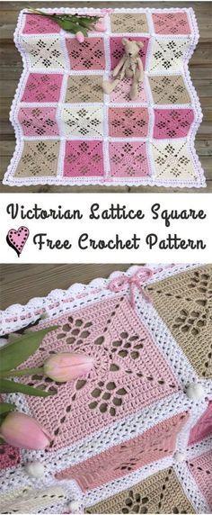 Victorian Lattice Square Free Crochet Pattern