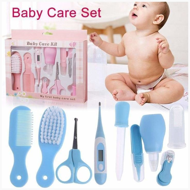 Baby Health Care Set Portable Newborn Baby Tool Kits Kids Grooming Kit Safety Cutter Nail Care Set NSV775