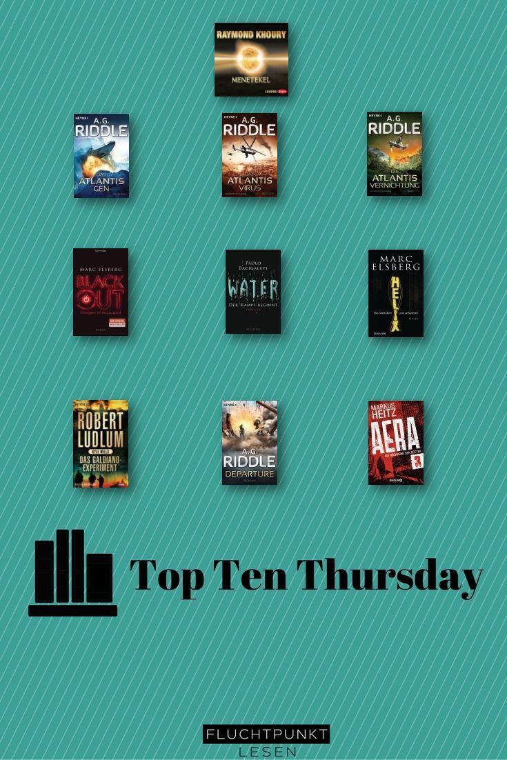 Um 10 Science Fiction Bücher geht es heute beim Top Ten Thursday, der freundlicherweise von Steffis Bücher Bloggeria betreut wird. Science Fiction ist nicht so ganz mein Thema, aber ich habe 10 Bücher gefunden, die zumindest irgendwie mit Zukunft und zukunftsweisenden Technologien zu tun haben :   #10 Science Fiction Bücher #top ten thursday #TTT