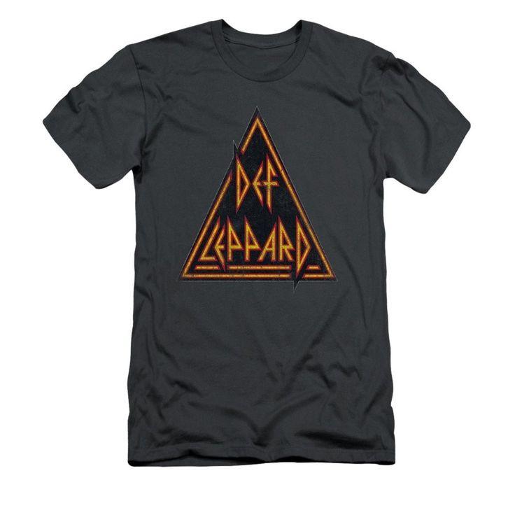 Def Leppard - Distressed Logo Adult Slim Fit T-Shirt