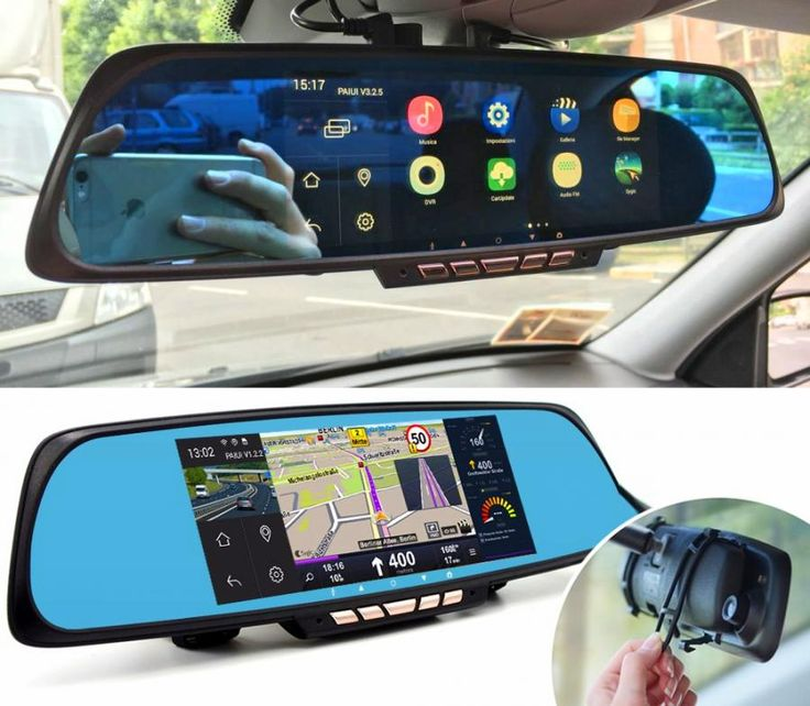 Smart RearView Mirror With Integrated Dash Cam